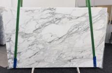 Fourniture dalles brillantes 2 cm en marbre naturel CALACATTA 1188. Détail image photos