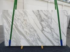 Fourniture dalles brillantes 2 cm en marbre naturel CALACATTA 1228. Détail image photos