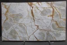 Fourniture dalles brillantes 2 cm en quartzite naturel CRISTALLO IMPERIALE DG027. Détail image photos