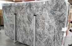 Fourniture dalles brillantes 0.8 cm en marbre naturel DIAMOND GREY 1491M. Détail image photos