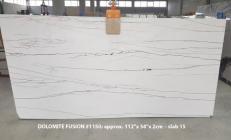 Fourniture dalles brillantes 2 cm en Dolomie naturelle DOLOMITE FUSION 1150. Détail image photos