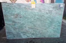 Fourniture dalles brillantes 2 cm en quartzite naturel EMERALD GREEN Z0209. Détail image photos