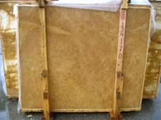 Fourniture dalles brillantes 2 cm en marbre naturel GIALLO NOCE SRC25131. Détail image photos