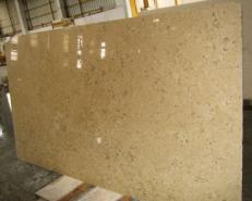 Fourniture dalles polies 2 cm en calcaire naturel HALILA WITH FOSSILS - JS5555 J_07067. Détail image photos
