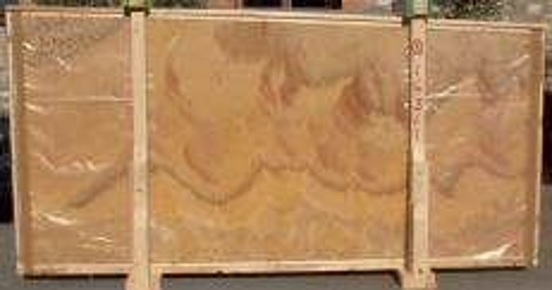 Fourniture dalles brillantes 2 cm en onyx naturel HONEY ONYX 14361. Détail image photos