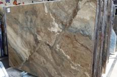 Fourniture dalles brillantes 2 cm en marbre naturel ILLUSION BRONZE U0103. Détail image photos