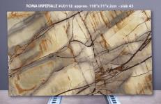 Fourniture dalles brillantes 2 cm en quartzite naturel ISOLA BLUE U0112. Détail image photos