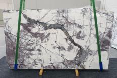 Fourniture dalles brillantes 2 cm en marbre naturel LILAC 12601. Détail image photos