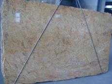 Fourniture dalles brillantes 2 cm en granit naturel MADURAI GOLD X. Détail image photos