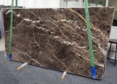 Fourniture dalles brillantes 2 cm en marbre naturel MARRON IRIS 1404. Détail image photos