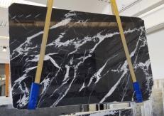 Fourniture dalles brillantes 2 cm en marbre naturel MONACO BLACK AA T0101. Détail image photos