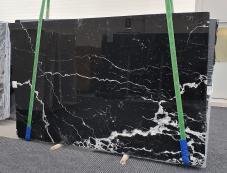 Fourniture dalles brillantes 2 cm en marbre naturel NERO MARQUINA 1378. Détail image photos