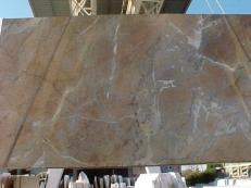 Fourniture dalles brillantes 2 cm en marbre naturel NOISETTE FLEURY E_US331. Détail image photos