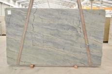 Fourniture dalles brillantes 3 cm en quartzite naturel OCEAN BLUE 2382. Détail image photos