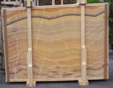 Fourniture dalles brillantes 2 cm en onyx naturel ONICE ARCOIRIS E-OAI14742. Détail image photos