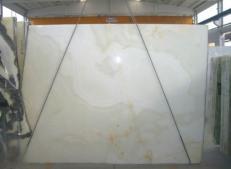 Fourniture dalles brillantes 2 cm en onyx naturel ONICE BIANCO SR-2010119. Détail image photos