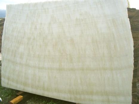 Fourniture dalles brillantes 2 cm en onyx naturel ONICE FEATHER EDM25129. Détail image photos