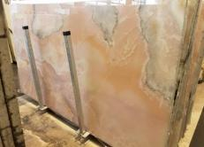 Fourniture dalles brillantes 2 cm en onyx naturel ONICE ROSA AA S0242. Détail image photos