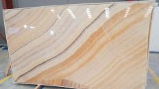 Fourniture dalles brillantes 2 cm en onyx naturel ONYX ARCOBALENO Rapsody. Détail image photos