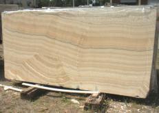 Fourniture dalles brillantes 2 cm en onyx naturel ONYX ARCOBALENO E_H463. Détail image photos