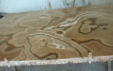 Fourniture dalles brillantes 2 cm en onyx naturel ONYX CAPPUCCINO EM_0411. Détail image photos