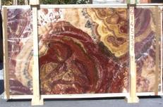 Fourniture dalles brillantes 2 cm en onyx naturel ONYX MULTICOLOR E-14539. Détail image photos
