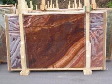 Fourniture dalles brillantes 2 cm en onyx naturel ONYX RED EXTRA E-ORE14634. Détail image photos