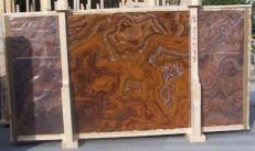 Fourniture dalles brillantes 2 cm en onyx naturel ONYX RED E-14533. Détail image photos