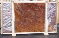 Fourniture dalles brillantes 2 cm en onyx naturel ONYX RED E-OR14640. Détail image photos