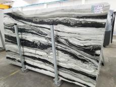 Fourniture dalles brillantes 2 cm en marbre naturel PANDA GREY D-7130. Détail image photos