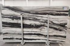 Fourniture dalles brillantes 3 cm en marbre naturel PANDA GREY D-7130. Détail image photos