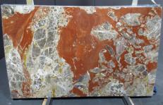 Fourniture dalles brillantes 2 cm en marbre naturel ROSSO ANTICO DM040. Détail image photos
