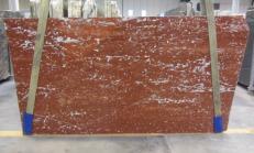 Fourniture dalles brillantes 3 cm en marbre naturel ROSSO FRANCIA 1007M. Détail image photos