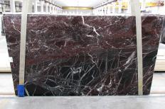 Fourniture dalles brillantes 2 cm en marbre naturel ROSSO LEVANTO 1712M. Détail image photos
