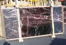 Fourniture dalles brillantes 2 cm en marbre naturel ROSSO LEVANTO E-14915. Détail image photos