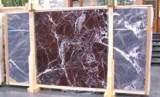 Fourniture dalles brillantes 2 cm en marbre naturel ROSSO LEVANTO E-10003. Détail image photos