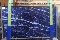 Fourniture dalles brillantes 2 cm en marbre naturel SODALITE AA 2062. Détail image photos