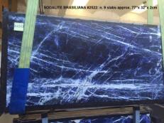 Fourniture dalles brillantes 2 cm en marbre naturel SODALITE AA 2522. Détail image photos