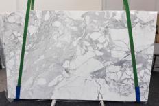 Fourniture dalles brillantes 3 cm en marbre naturel STATUARIO VENATO 1187. Détail image photos