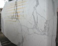 Fourniture dalles brillantes 2 cm en marbre naturel STATUARIO E-O411. Détail image photos