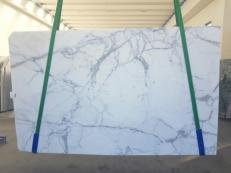 Fourniture dalles brillantes 2 cm en marbre naturel STATUARIO GL 1111. Détail image photos
