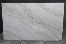 Fourniture dalles brillantes 3 cm en quartzite naturel SUPREME PEARL 1492G. Détail image photos
