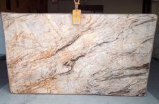 Fourniture dalles brillantes 2 cm en quartzite naturel TEMPEST CRISTALLO A0111. Détail image photos