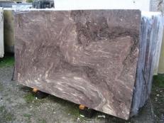 Fourniture dalles brillantes 2 cm en marbre naturel THALIA BROWN EDM25134. Détail image photos