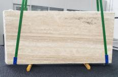 Fourniture dalles polies 2 cm en travertin naturel TRAVERTINO ALABASTRIN0 1309. Détail image photos