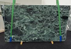 Fourniture dalles brillantes 2 cm en marbre naturel VERDE ALPI 1460. Détail image photos