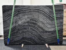 Fourniture dalles brillantes 2 cm en marbre naturel Zebra Black 1387. Détail image photos