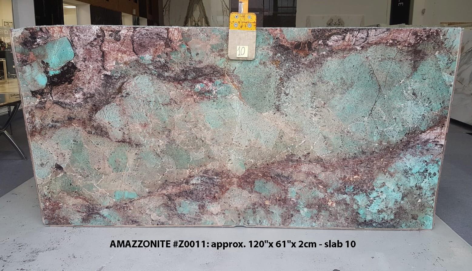 AMAZZONITE Fourniture Veneto (Italie) d' dalles brillantes en pierre semi précieuse naturelle Z0011 , Slab #10
