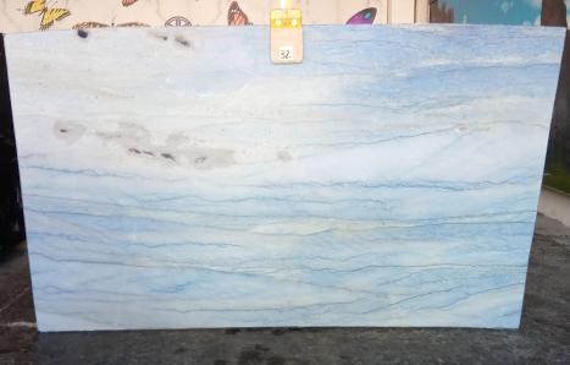 AZUL MAKAUBA Fourniture Veneto (Italie) d' dalles brillantes en marbre naturel Z0191 , Slab #32