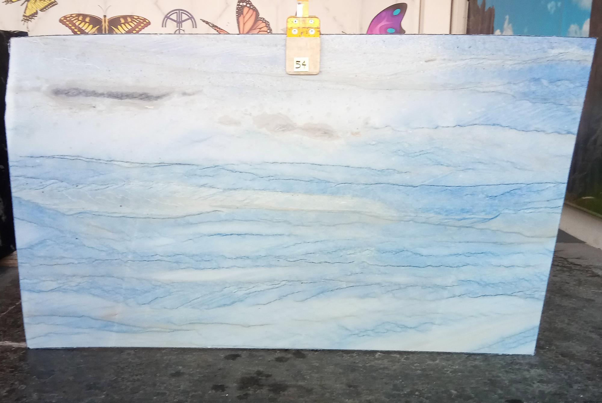 AZUL MAKAUBA Fourniture Veneto (Italie) d' dalles brillantes en marbre naturel Z0191 , Slab #54